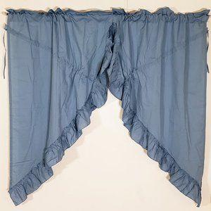 Vintage Accents - Vtg Priscilla Curtains Cotton Drawstring 72W x 64L